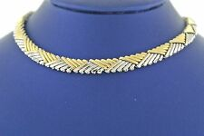 Fancy 18k Two-Tone Gold Necklace, 24.6gm, 16 Inches