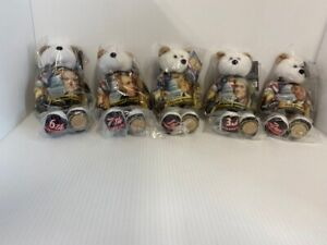 Set of 5 2009 Limited Treasures Presidential Dollar Coin Bears - NEW