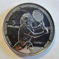 NIUE 1987 - 5 DOLLARS - STEFFI GRAF Olympic Games Seoul- stgl/unc (1861