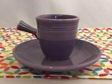 Fiestaware Lilac Stick Handled Demi Cup and Saucer Fiesta Purple Demitasse