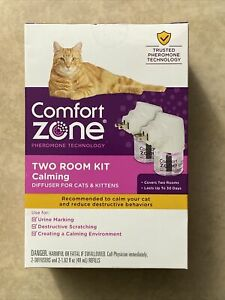 COMFORT ZONE Two Room Kit Calming 2 Diffusers and 2 Refill for Cats & Kittens