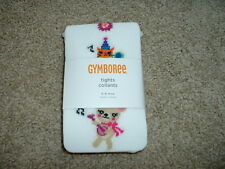 Baby Girls Gymboree Sweet Music White Animal Tights Size 6-12 months mos NWT $14