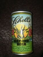 Rare Schell's Deer Brand flat top/flip tab beer Can Bottom Opened