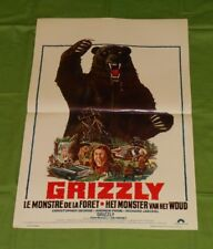 original GRIZZLY Belgian movie poster Christopher George Richard Jaeckel