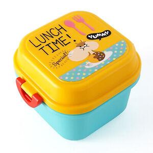 Kids Lunch Box Bear Hamster Cartoon Bento Box Leakproof Children Food Container