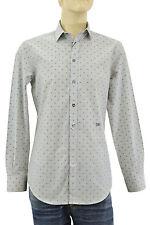 $250 DOLCE & GABBANA Gray BRAD Tailored D&G Casual Dress 100% Cotton Mens Shirt