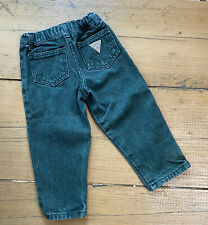 Vintage GUESS Green Jeans Kid's Denim Toddler 2T Made in USA