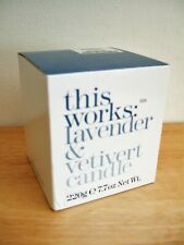 This works lavender & vetiver candle new in box RRP £25