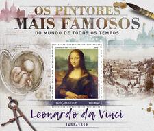 Mozambique 2016 MNH Leonardo Da Vinci Mona Lisa 1v S/S Paintings Art Stamps