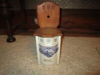 Vintage German Porcelain Mehl (Flour) Box!!!!
