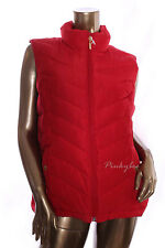 CHARTER CLUB New Women's $79 Red Buttoned Pockets Quilted Puffer Vest Size XL