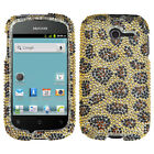 For Huawei Ascend Y H866C Crystal Diamond BLING Hard Case Phone Cover Leopard