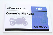 New Owners Manual 1984 CB700SC Nighthawk CB700 OEM Honda Operators Book #W67