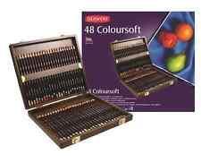 Derwent Coloursoft Pencils - 48 Colour Wooden Box