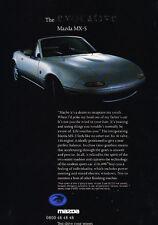 1993 Mazda Mx-5 Mx5 Euro - Classic Car Advertisement Print Ad J64