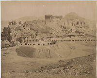 Grecia Vista Generale Da L'Acropoli Foto Athanasiou Vintage Albume D'Uovo, Ca
