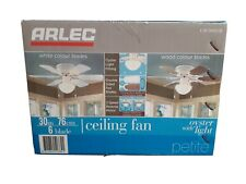 Arlec Ceiling Fan Oyster with Light. 76cm/30in 6 Blades.