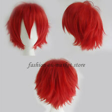US Stock Halloween Wigs Unisex Cosplay Full Wigs Fancy Dress Party Yellow Brown