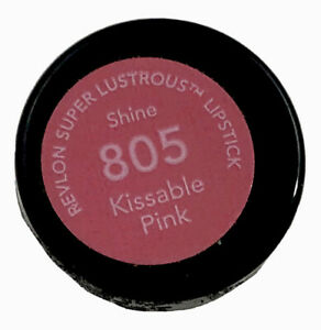 REVLON Super Lustrous Lipstick Shine 805 KISSABLE PINK