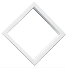 """Mobile Home 10"""" x 10"""" White Diamond Exterior Door Window"""