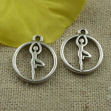 Free Ship 340 pcs tibetan silver dancer charms 19x16x2mm #4420