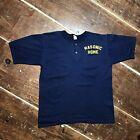 Vintage 80s Masonic Home Employee Henley T-Shirt Mens XL 50-50 Medallion