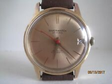 Vintage 60's Swiss Silverwatch Gent's Rose Gold Plated Automatic Watch.