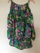 Wallis Size S Multi Coloured Top With 3/4 Length Sleeves