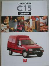 Citroen C15 Champ brochure Oct 1994