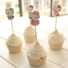 24pcs Hello Kitty Cupcake Cake Topper Decoration Kids Birthday Party Cartoon