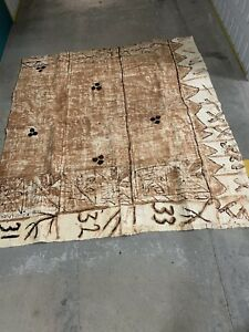 FIJIAN MASI TRADITIONAL BARK TAPA CLOTH FOR WALL OR TABLE FOR SALE