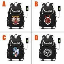 Princess Mononoke Ashitaka USB Backpack School Shoulder Bags Travel Laptop Bag