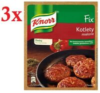 Knorr Fix Kotlety Mielone Polish Ground Pork Beef Meatball Spice Mix (3-Pack)