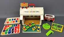 Vintage 70's Fisher Price Little People SCHOOL HOUSE #923 - 100% Complete! + Bus