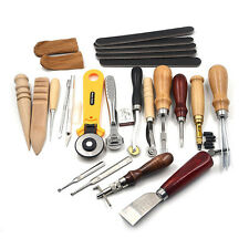 20pcs Leather Hand Tools Set Costura Kit Punch Stitching Sewing DIY Stamp Gift