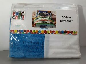 The Wolrd Of Eric Carle African Savannah Bedskirt Twin Size New 2006