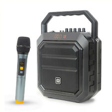 Deco Gear Portable PA Speaker with Wireless Microphone - 30W Power and 4000 mAh