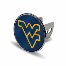 NCAA West Virginia Mountaineers Laser Cut Metal Hitch Cover, Large, Silver