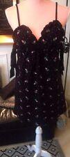 robe black noir Manoush éponge  runway collection dress broder de roses  sublime