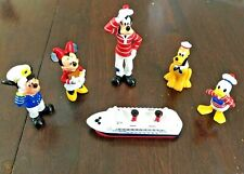 Disney Cruise Line Pvc Figure Set Captain Mickey Minnie Donald Pluto Goofy Rare