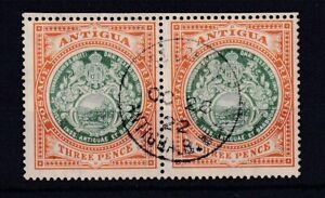 ANTIGUA 1908-17 3d Grey-Green and Orange-Brown SG47 Pair USED