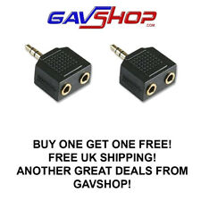 3.5mm Jack Headphone Splitter Adaptor 1 x Stereo Plug to 2 x Sockets 1 Free !!!