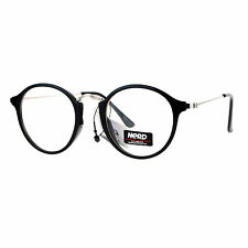 Nerd Eyewear Clear Lens Glasses Vintage Fashion Round Frame Eyeglasses
