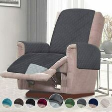 "21"" Recliner Cover Chair Furniture for Pet Protector Quilted Darkgrey/LightGrey"