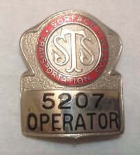 Vintage Surface Transportation Sts Bus Operator Badge 5207 New York