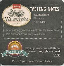 2 GREENE KING HUNGRY HORSE BEER FESTIVAL Tasting Notes BEER MATS. Breweriana Ale