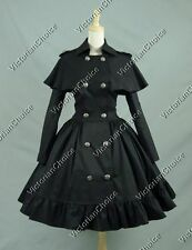 Victorian Gothic Chic City Trench Coat Dress Punk Theater Clothing N C018 XXL