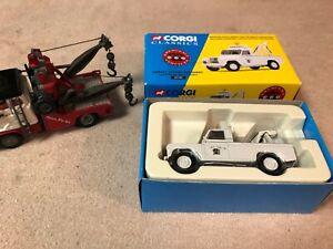 Corgi tow truck and Corgi Holmes wrecker