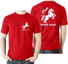 Personalised Horsey T Shirt Rider's Name and Horse Name Equestrian Kids & Adults