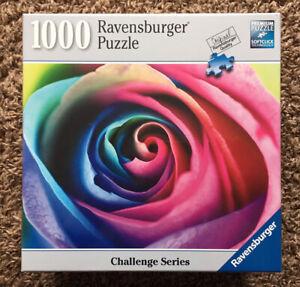 Ravensburger Challenge Series Rainbow Rose1000 Piece Puzzle - Brand New - Rare